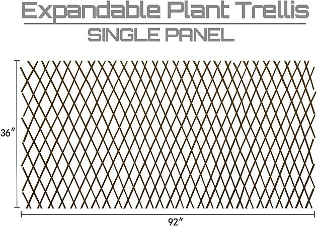Amazon Com Expandable Garden Trellis Plant Support Willow