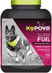 K9 Power - Super Fuel - Energy & Muscle Nutritional Supplement for Active Dogs - Increases Energy, Promotes Recovery & Enhanced Performance
