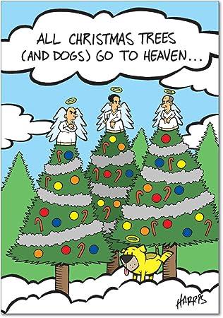 Amazon.com: Navidad Perros Heaven Navidad Humor Tarjeta de ...