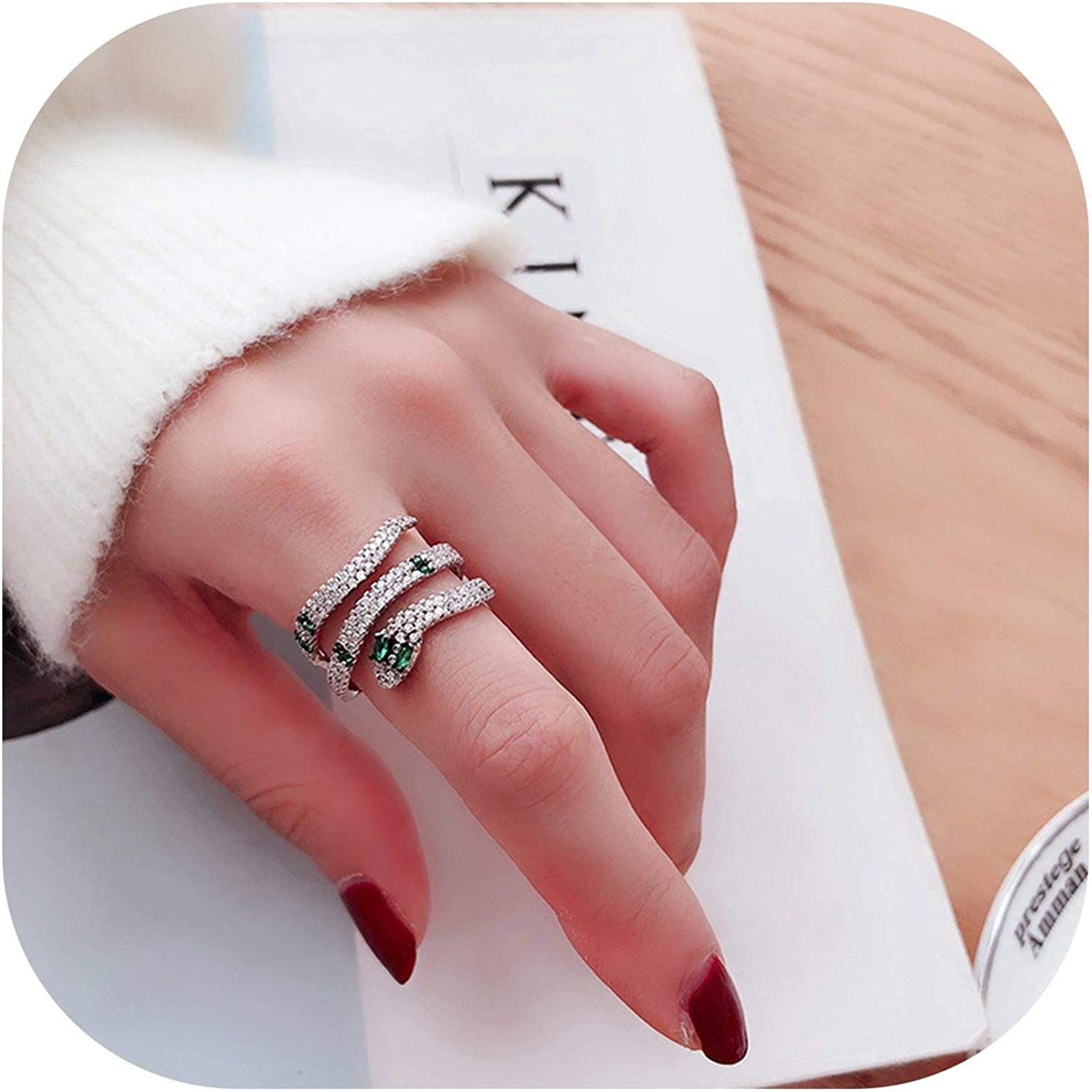 925 Sterling Silver Mens and Womens Natural Organic Ring Snake Animal R\u0130ngs.
