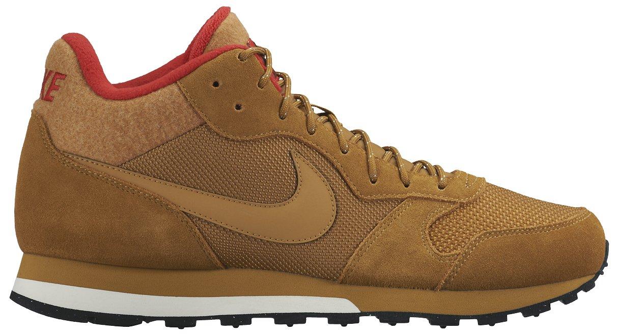 Nike MD Runner 2 Mid, Zapatillas de Running para Hombre 42 EU|Marrón / Rojo / Blanco (Wheat/Wheat-black-unvrsty Red)