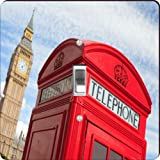 Rikki Knight RK-LSPS-2039 single Toggle British Phone Booth & Big Ben Design Light Switch Plate Cover