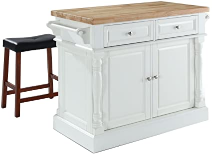 Amazoncom Crosley Furniture Kitchen Island With Butcher Block Top