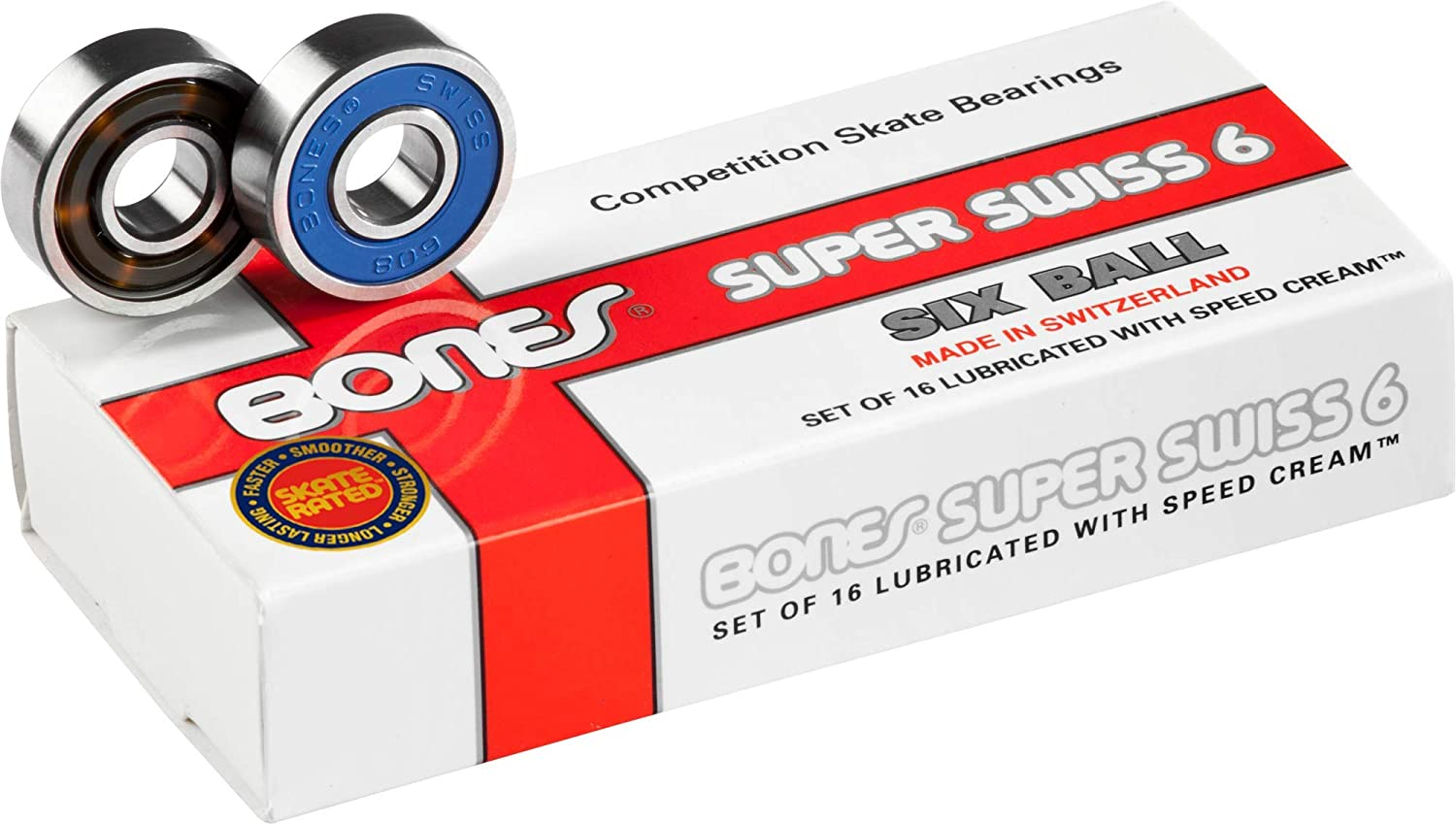 Bones Swiss Bearings For Scooters 4 Pack