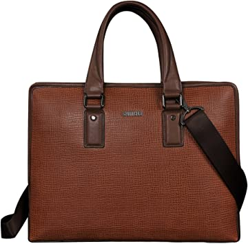 Leather Business Bag Color Brown