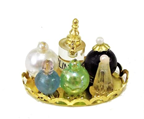 Bandeja de Perfumes A Accesorio Damas Cuarto Baño Miniatura Casa de Muñecas