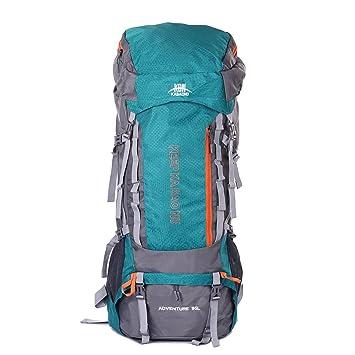 Mooedcoe 95L Mochila Trekking Senderismo Grande Mochila Montaña Hombre Impermeable de Viaje Acampada Excursionismo Alpinismo (Verde Mar): Amazon.es: ...
