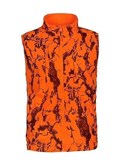 3a9148287881b Natural Gear Reversible Orange Safety Vest with Zipper Closure, Orange  Blaze Camo Hunting Vest for