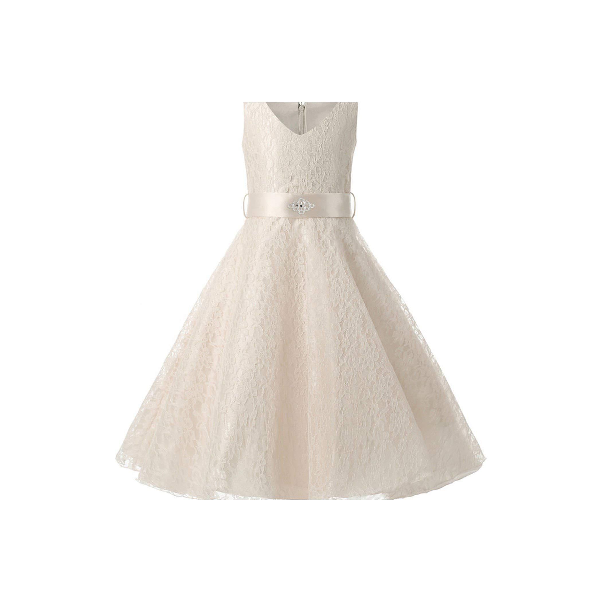 Princess Costume Kids Dresses for Girls Teenagers Children Flower Party Girls Dress Wedding Dress,MB,6