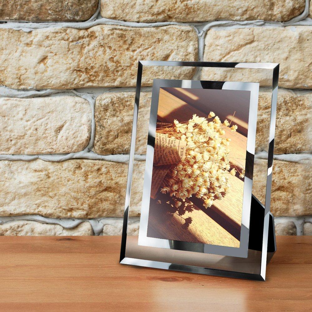 PETAFLOP Fotorahmen 10x15 Glas Bilderrahmen Photo Rahmen Hochzeit ...