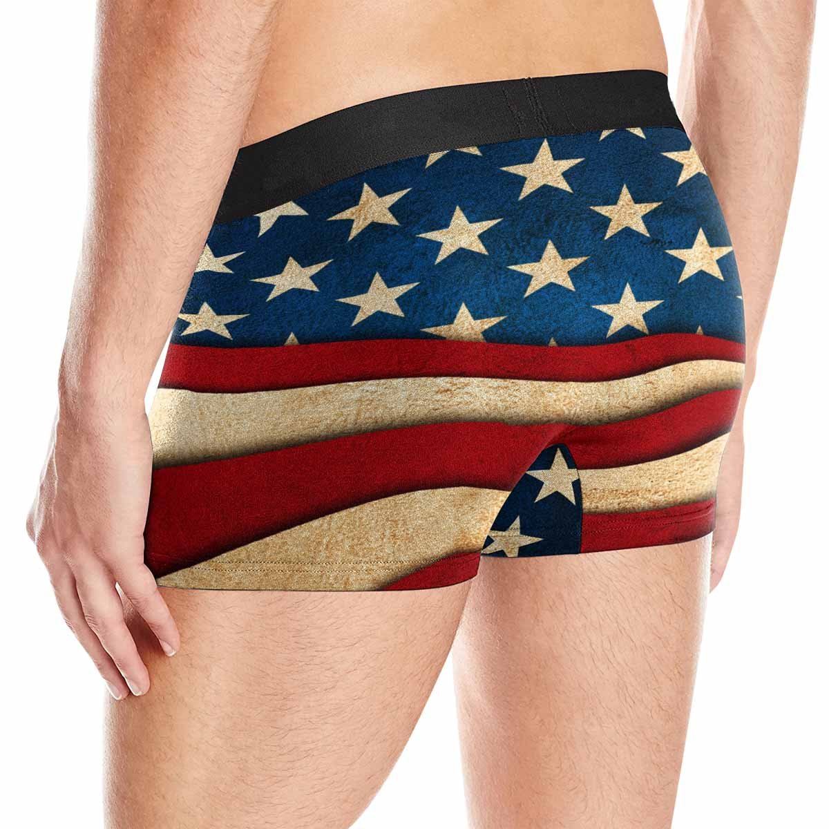 America Independence Day XS-3XL INTERESTPRINT Boxer Briefs Mens Underwear 4th of July
