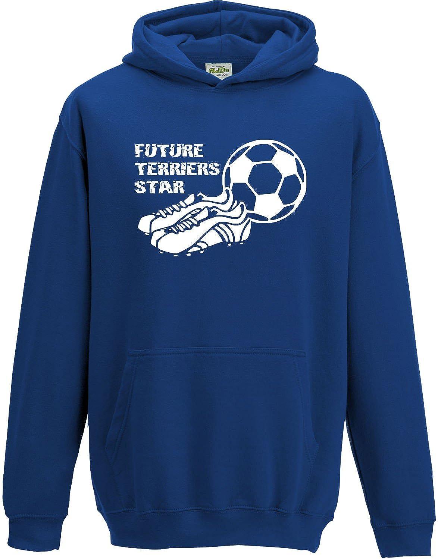 Hat-Trick Designs Huddersfield Town Football Baby/Kids/Childrens Hoodie Sweatshirt-Royal Blue-Future Star-Unisex Gift