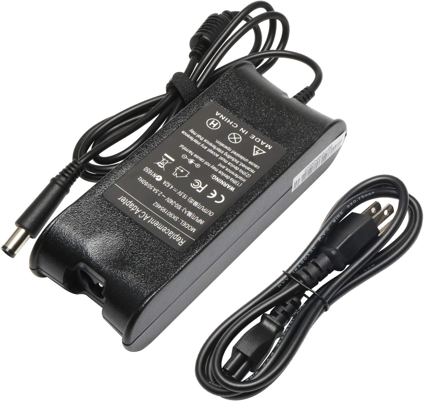 19.5V 4.62A 90W Laptop Adapter Charger for Dell Latitude E5420 E5430 E5450 E6520 E6530 E6230 E7270 E7450 E6500 E6430 E7470 E6400 E5520 E7440 E7240 E6440 E4310 AC Power Supply Cord