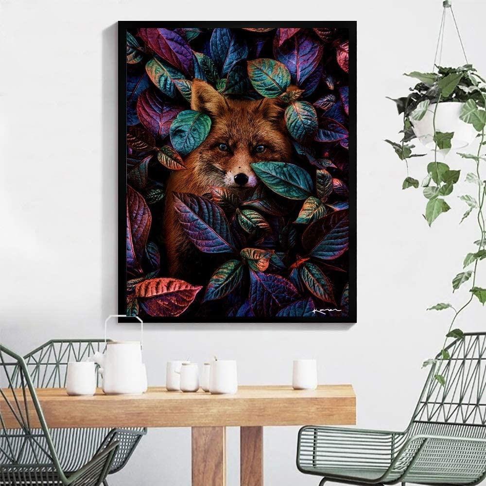 Acrylic Pigment Panda in Leaves 16 x 20 Drawing Paintwork with Paintbrushes DIY Paint by Numbers Canvas Oil Painting Kit for Kids /& Adults