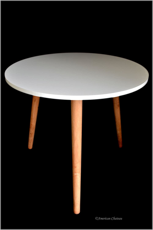 amazon com retro mid century modern danish style white wood