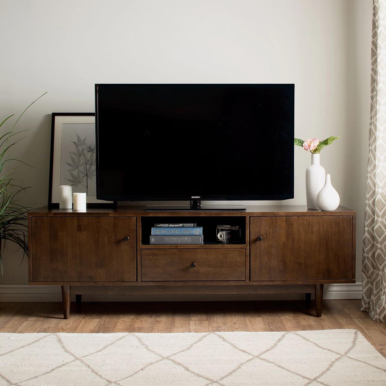 brand new fea93 0c0fd Amazon.com: MFR Furniture Mid-Century Modern TV Stand ...