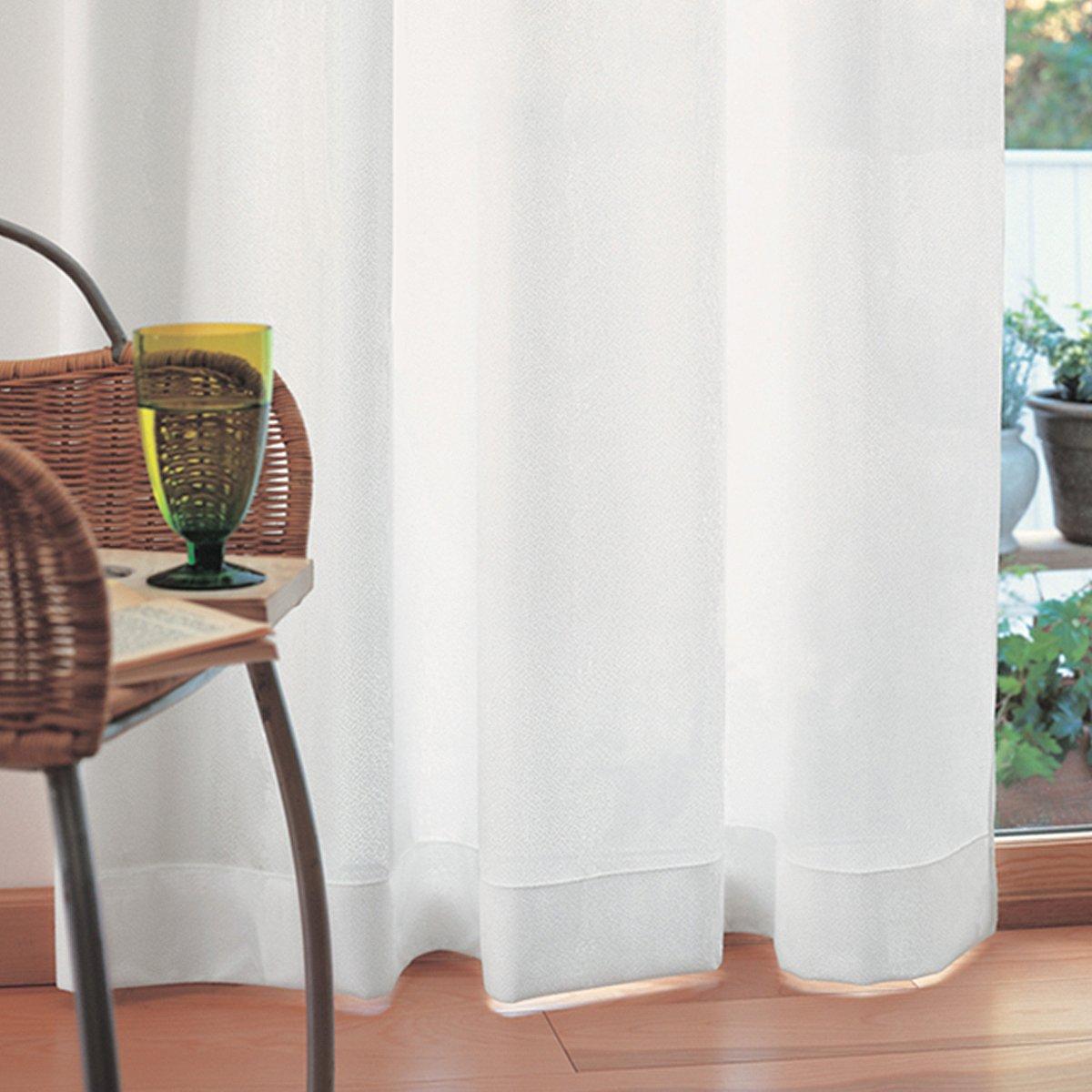 【 カーテンいらずの 高断熱 二重レースカーテン 】 2枚仕立て、しっかりとした厚みで 断熱 遮熱効果大 UVカット率99.3% 昼夜目隠し 「困った時はこれ一枚」 色:ホワイト サイズ:125×208cm×2枚組/Aフック  (レースカーテン 遮熱 レースカーテン ミラー) 125×208cm  ホワイト系 B00CEPP8O2 (幅)125×(丈)208cm×2枚入