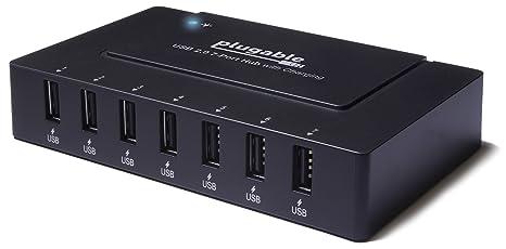 Usb Charging Hub >> Amazon Com Plugable Usb 2 0 7 Port High Speed Charging Hub With 60w