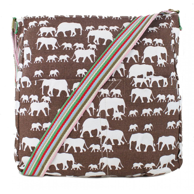 ellie elephant print crossbody bag in beige amazon co uk shoes
