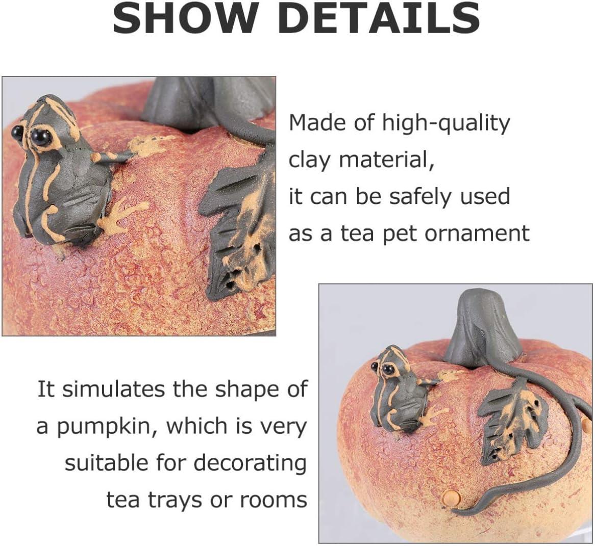 Yarnow K/ünstliche K/ürbisse des Halloween-Tee-Haustieres Zur Dekoration f/ür Das Festival Halloween-Erntedankfest-Herbsternte