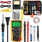 Vastar Soldering Iron Kit, Full Set 60W 110V Soldering Welding Iron Kit - Adjustable Temperature with Digital Multimeter…