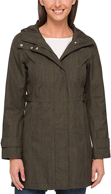 NEW Kirkland Signature Ladies/' Trench Rain Coat Jacket Charcoal Variety of Sizes