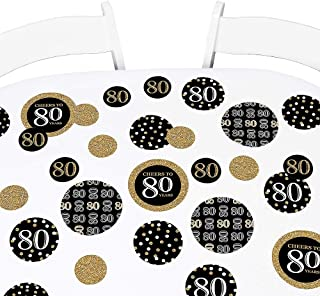 product image for Big Dot of Happiness Adult 80th Birthday - Gold - Birthday Party Giant Circle Confetti - Party Decorations - Large Confetti 27 Count