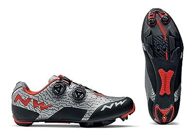 Northwave Zapatillas MTB Cross Country para Hombre Rebel Gris/Rojo Size: 48 EU: Amazon.es: Zapatos y complementos