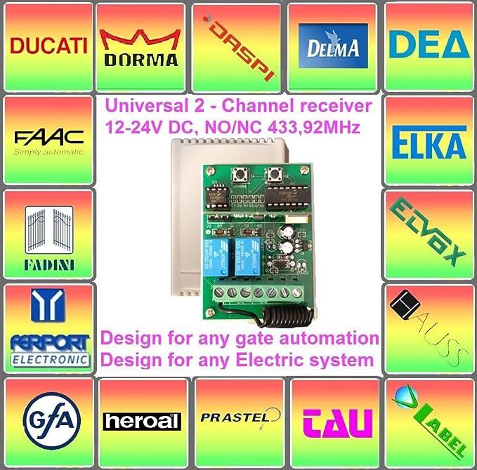 Receptor de radio para daspi Gate Automation emisor manual: Amazon.es: Bricolaje y herramientas