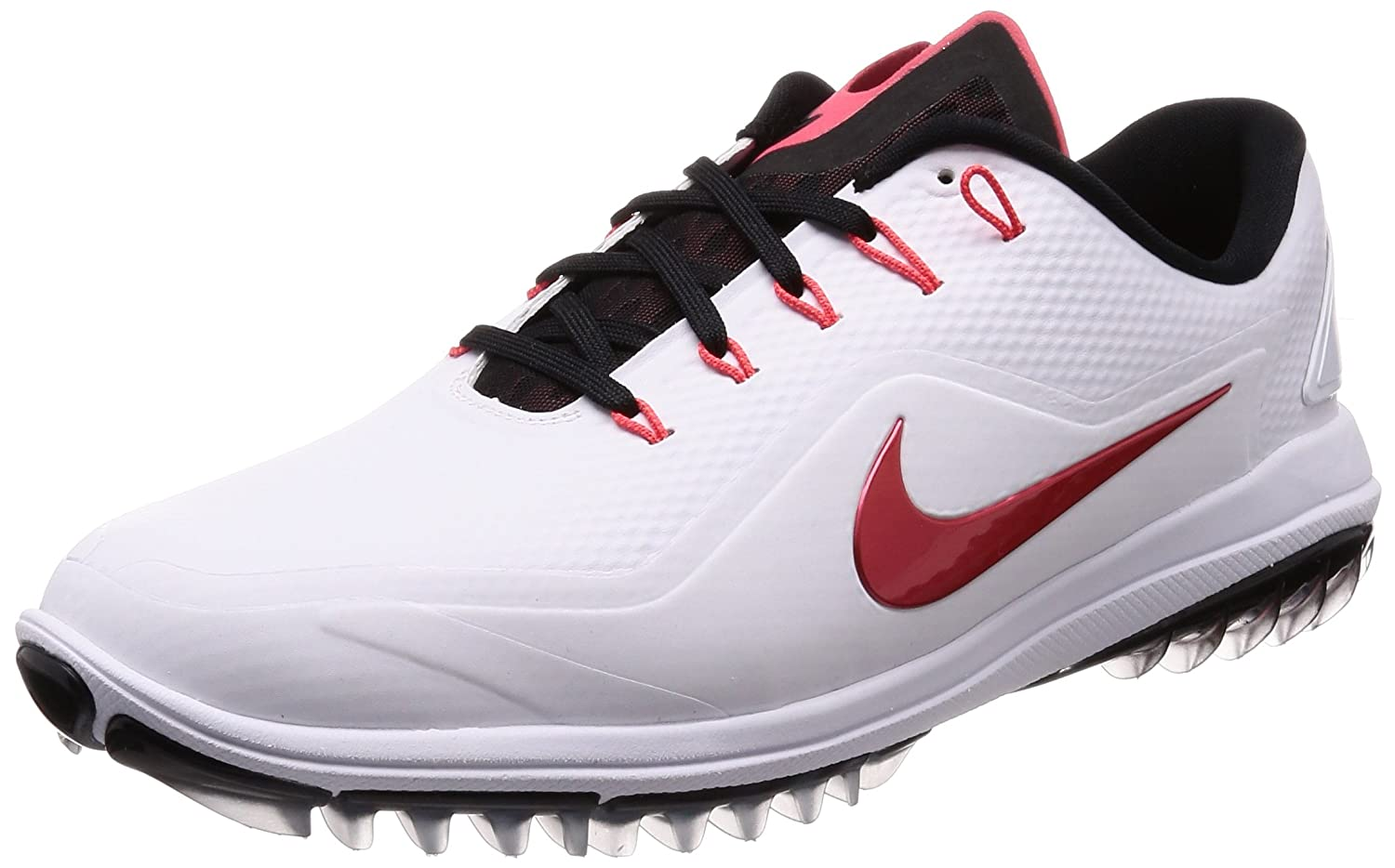8b46a69dba2b54 Amazon.com  Nike Men s Lunar Control Vapor 2 Golf Shoes White Tropical Pink  Black 9.5 W  Sports   Outdoors