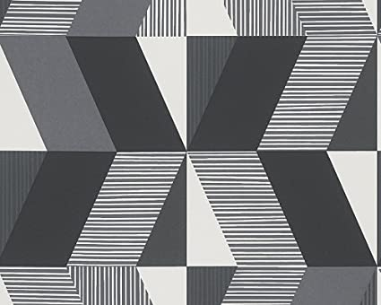 Black And White Geometric Dark Wallpaper Sample Modern