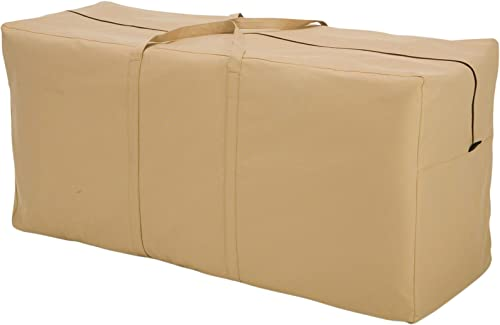 Classic Accessories Terrazzo Water-Resistant 45.5 Inch Patio Cushion and Cover Storage Bag,