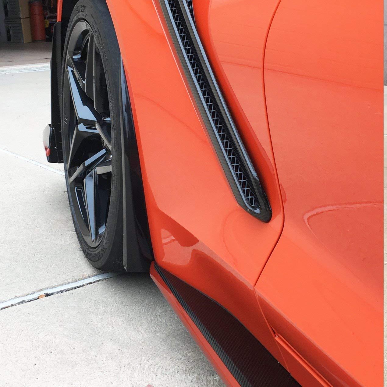 ACS Composite C7 Corvette Stingray Grand Sport Z06 and ZR1 XL Rock Guards//Splash Guards Front Only Painted Carbon Flash Metallic