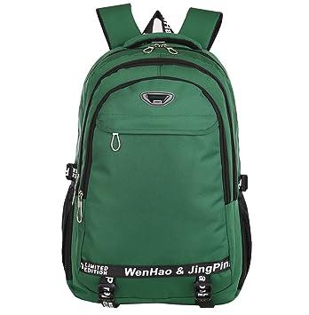 Mochila de senderismo súper moderna, mochila escolar impermeable de nailon, para deportes