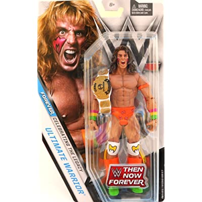 WWE Basic Series Then Now Forever Ultimate Warrior Exclusive Action Figure (with Heavyweight Championship Belt): Toys & Games