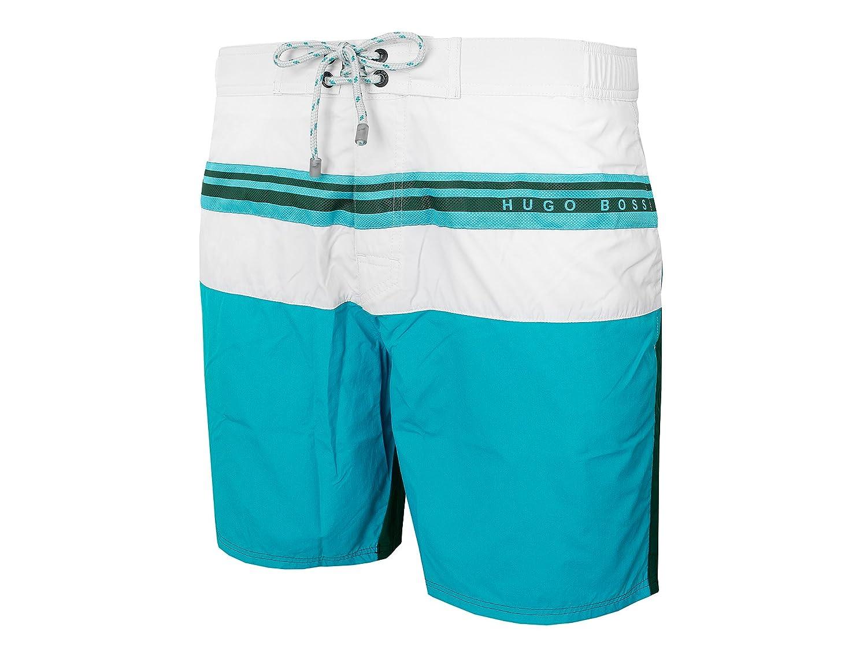 Men' s Swim Shorts Flagfish by Boss, Open Green
