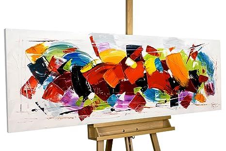 Kunstloft Tableau Peinture Sur Toile A L Huile Rush 150x50cm