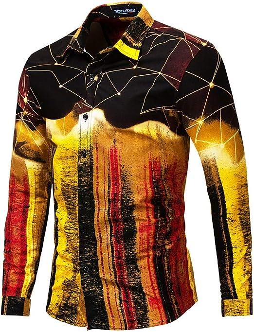 Asdflina Mezcla de Colores para Hombres Diseño Friki Impreso Slim ...