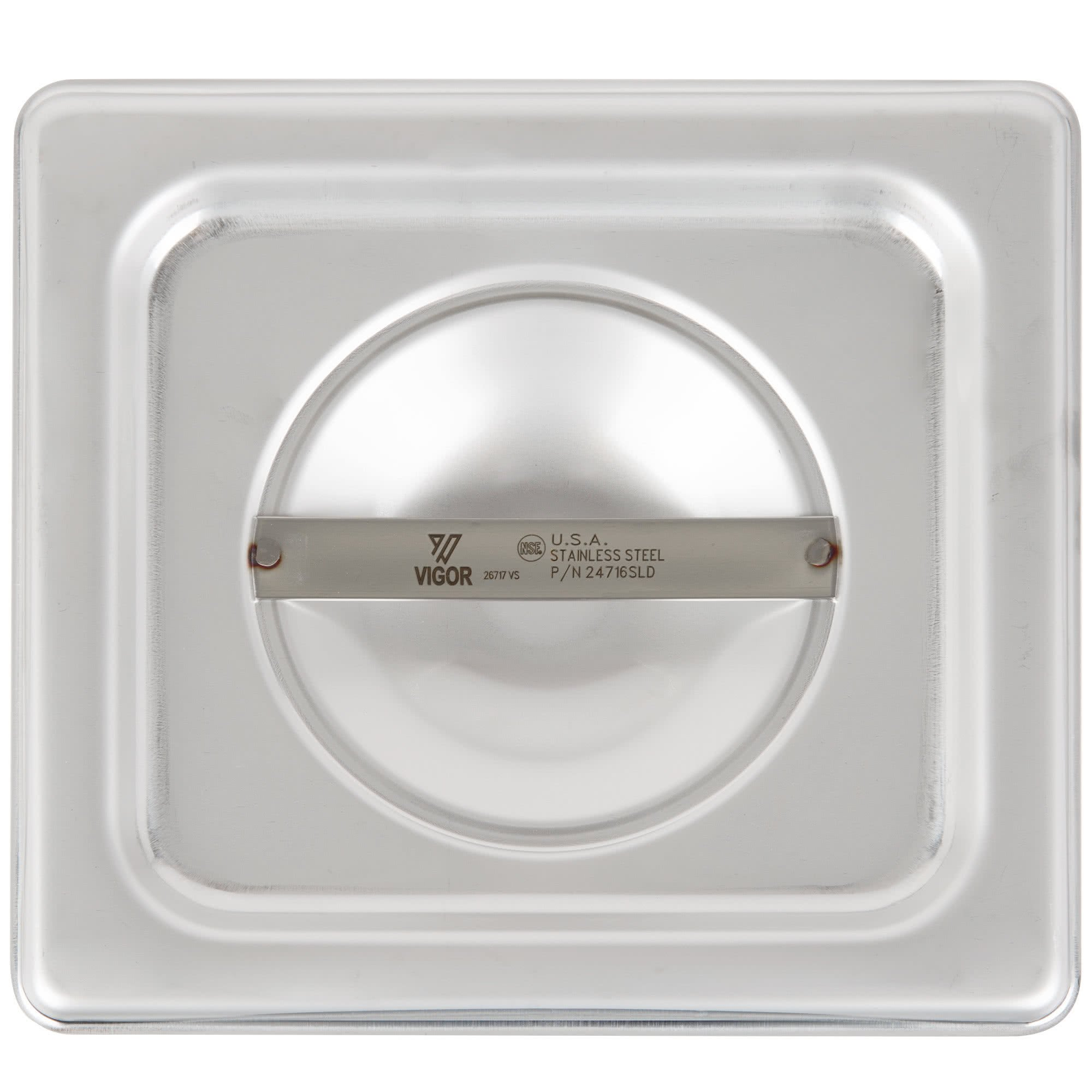 TableTop King 1/6 Size Solid Stainless Steel Steam Table / Hotel Pan Cover