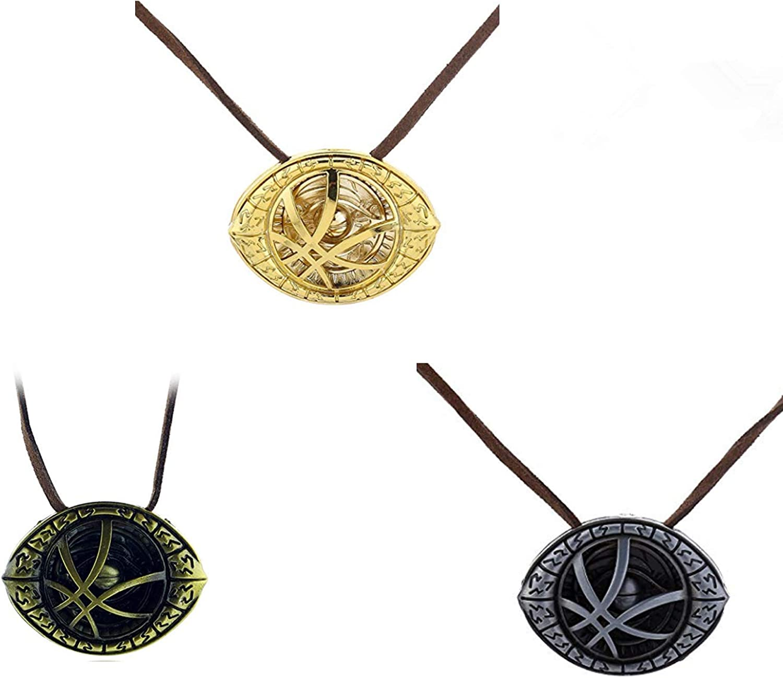 DUOSHIDA Collar de 3 Piezas Dr Strange Eye Agamotto Disfraz Prop ...