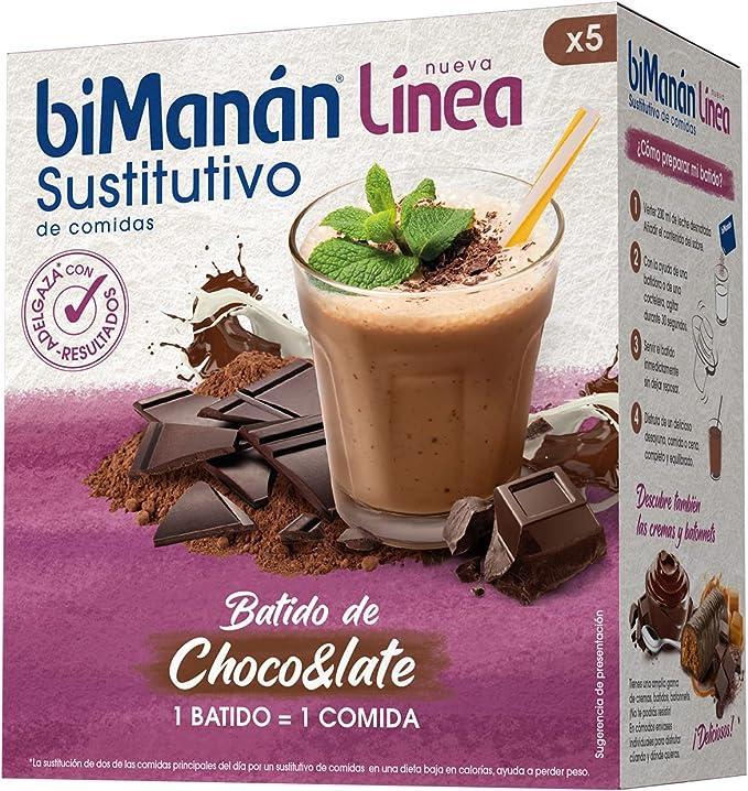 BIMANAN batido dietético de chocolate con leche