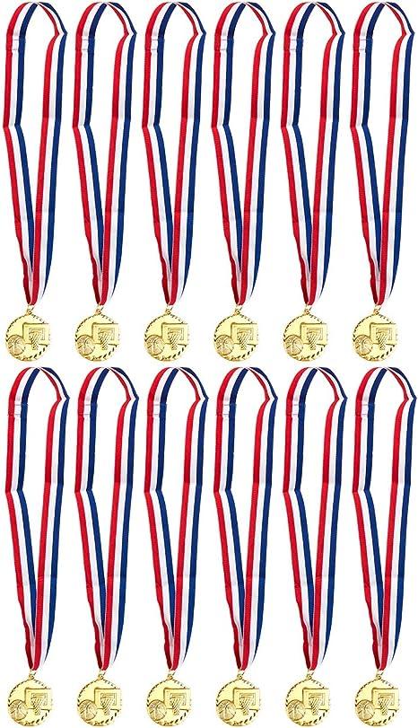 Juvale 12 medallas de Oro para Baloncesto – Baloncesto medallas ...