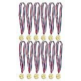 Juvale Gold Basketball Medals - 12-Pack - Winner