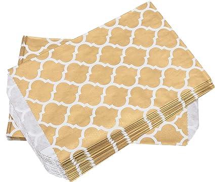 100% Mosel 24 bolsas de papel Casablanca, Oro Blanco, 12,7 x ...