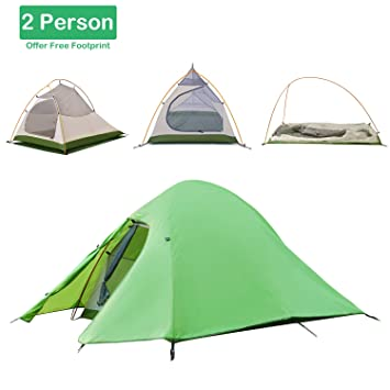 Topnaca 1 2 3 Person 4 Season Backpacking Tent Lightweight Waterproof Two Layers Ultralight Aluminum  sc 1 st  Amazon.com & Amazon.com : Topnaca 1 2 3 Person 4 Season Backpacking Tent ...