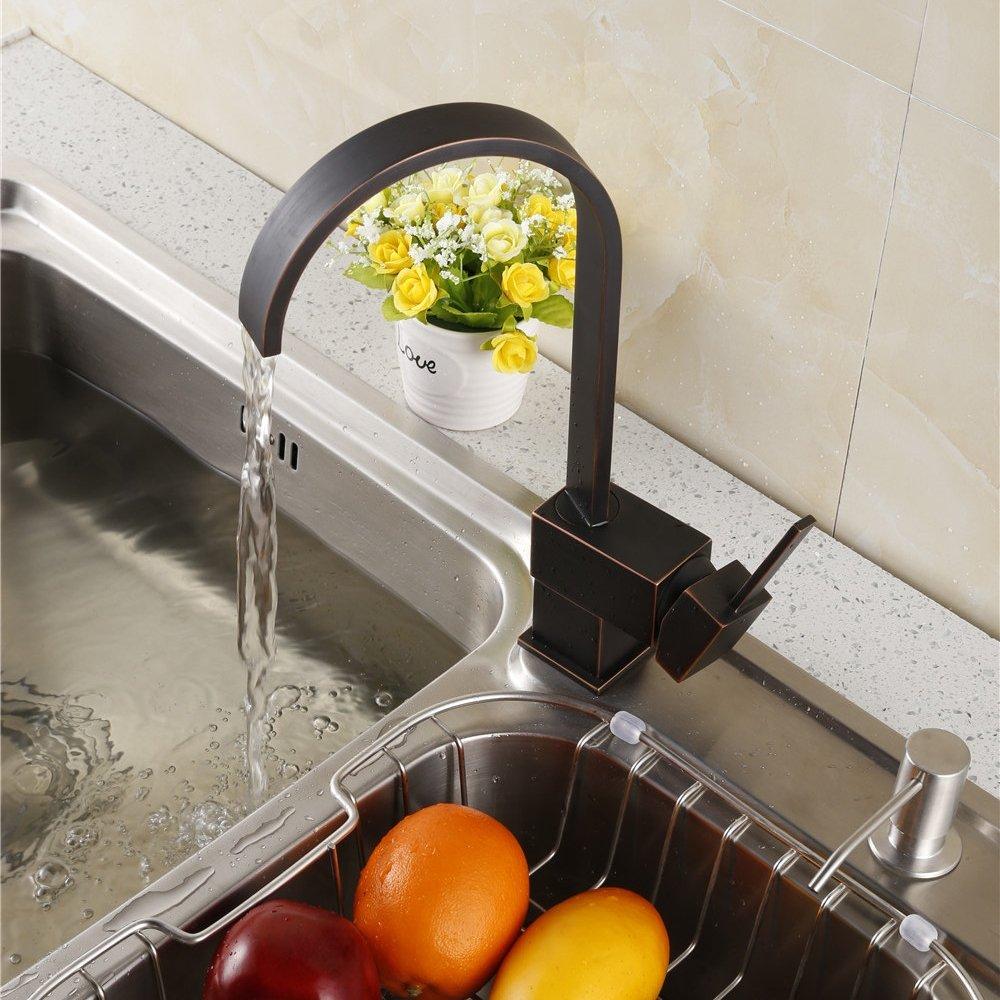 Yodel Modern Kitchen / Wet Bar Sink Faucet, Oil Rubbed Bronze     Amazon.com