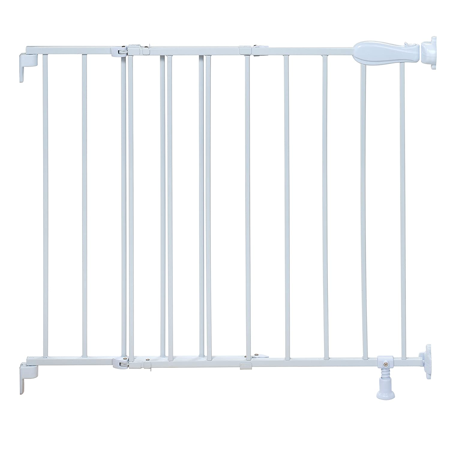 Amazon.com : Summer Infant Top Of Stairs Simple To Secure Metal Gate, White  : Indoor Safety Gates : Baby