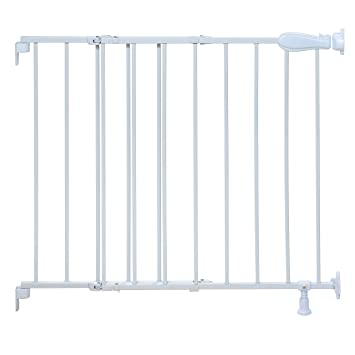 High Quality Summer Infant Top Of Stairs Simple To Secure Metal Gate, White
