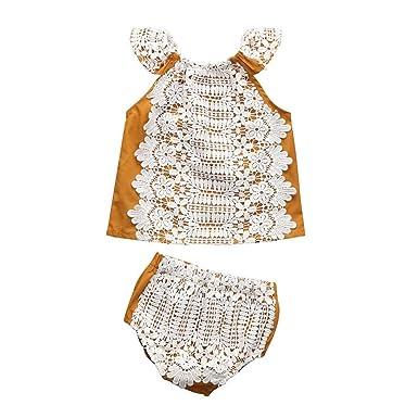 b23c5dde64b Sixcup Baby-Girl Jumpsuit Sunsuit Set