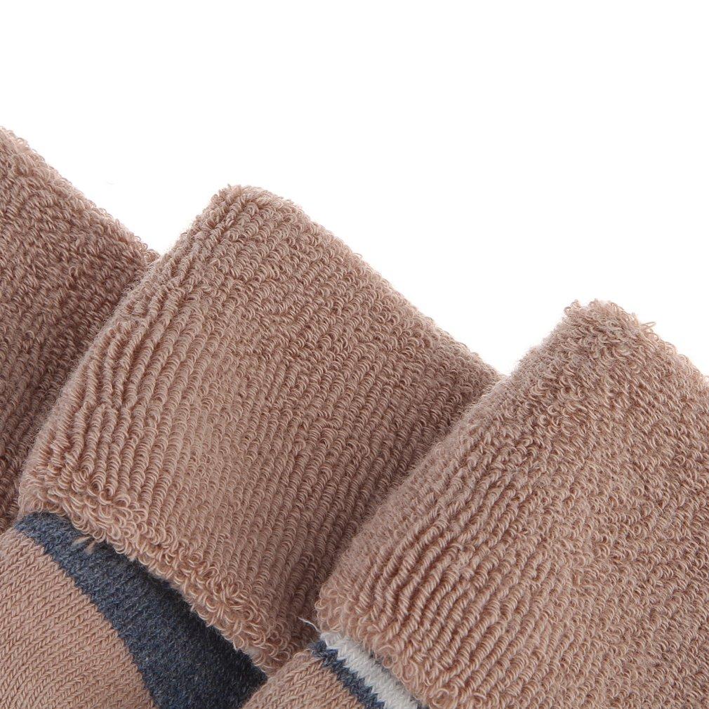 La Vogue Lot de 4 Paires Chaussette B/éb/é Unisexe /Épaisse Chaude Antid/érapant Rayures//Pois Coton